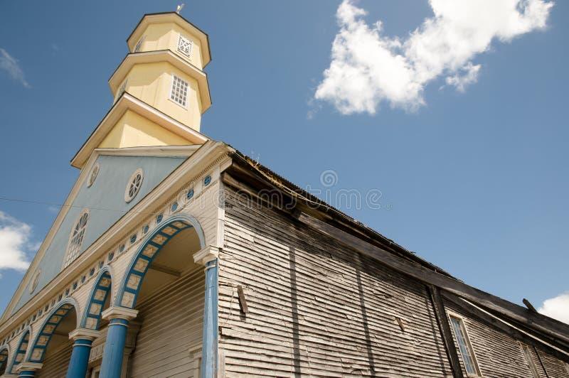 Iglesia de Chonchi - Chiloe - Chile foto de archivo