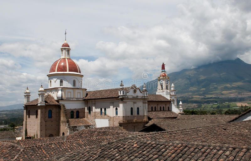 Iglesia de Cotacachi immagine stock libera da diritti