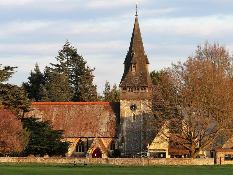 Iglesia de Cristo en el campo común de Chorleywood, Hertfordshire fotografía de archivo libre de regalías