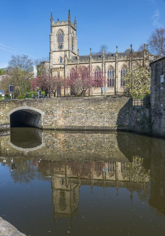 Iglesia de Cristo, puente de Sowerby, Calderdale fotografía de archivo libre de regalías