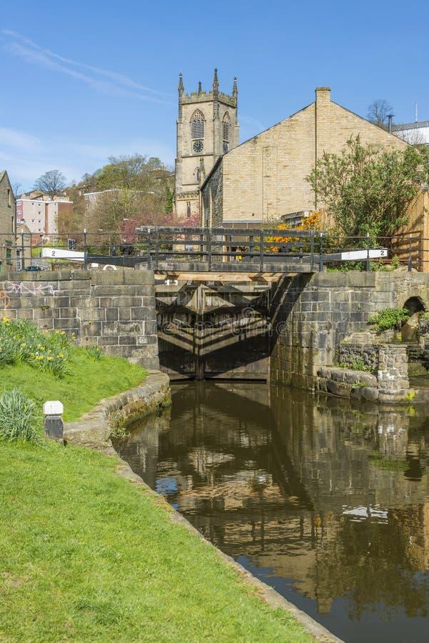 Iglesia de Cristo, puente de Sowerby, Calderdale fotos de archivo