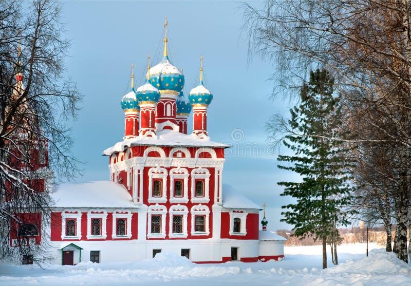 Iglesia de Dmitry en la sangre en Uglich Kremlin fotos de archivo libres de regalías