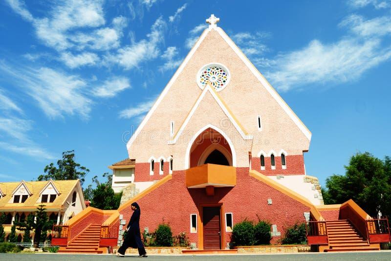 Iglesia de Domaine en Vinhlong, Vietnam imagenes de archivo