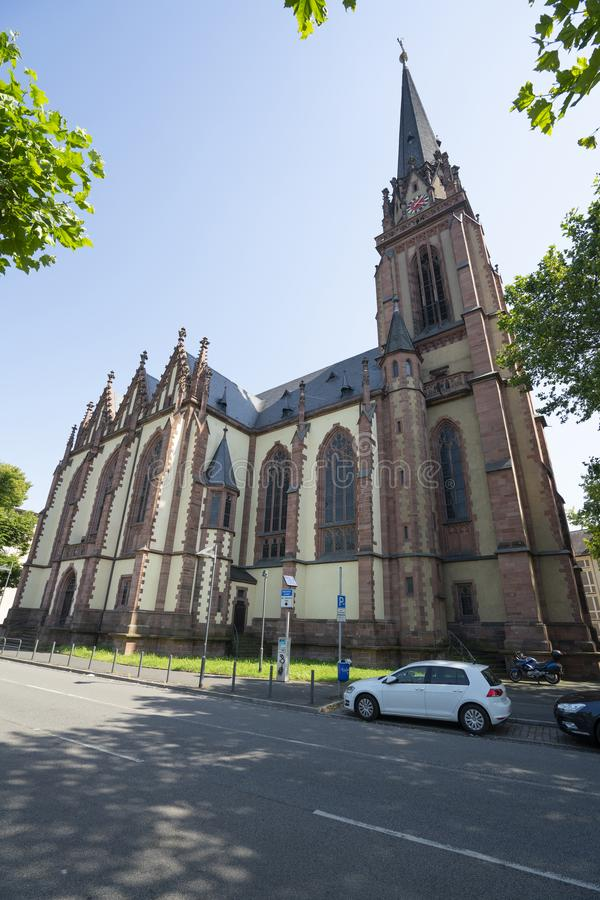 Iglesia de Dreikönigskirche en Francfort imágenes de archivo libres de regalías