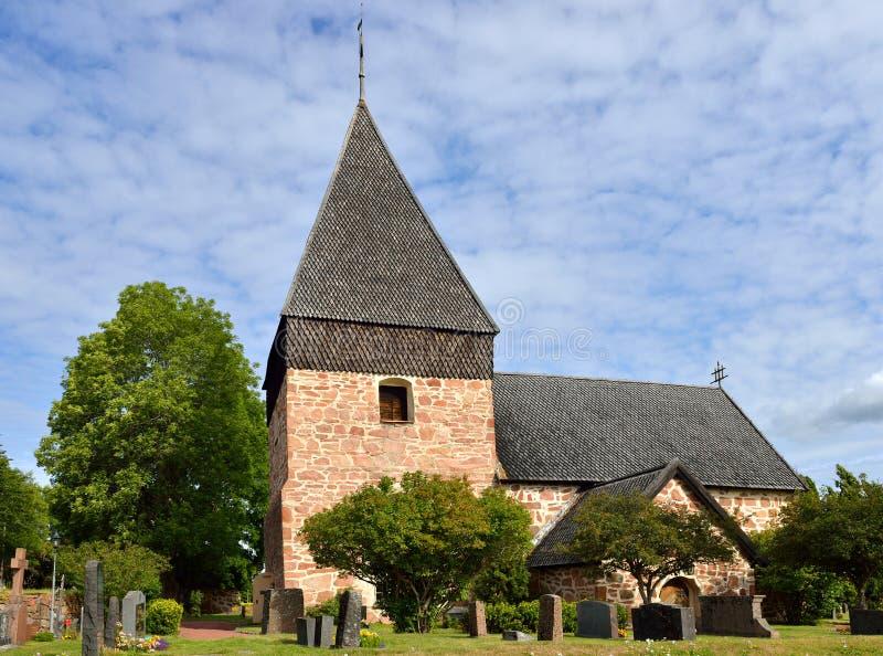 Iglesia de Eckero imagen de archivo