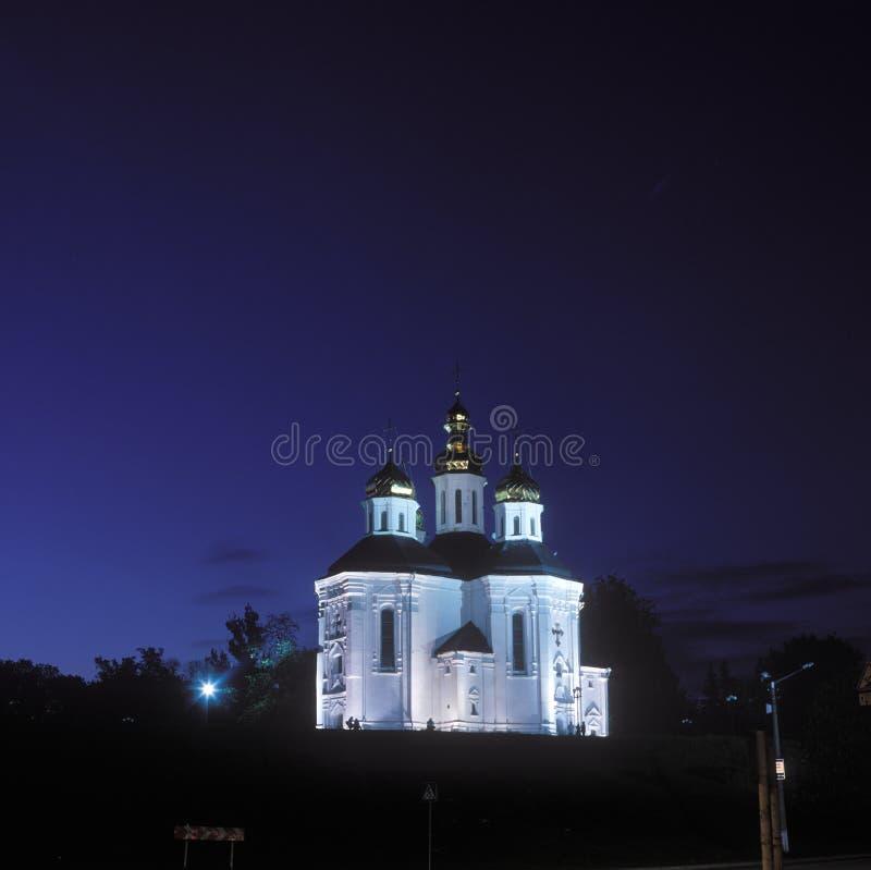 Iglesia de Ekaterina en Chernigov, Ucrania imagenes de archivo
