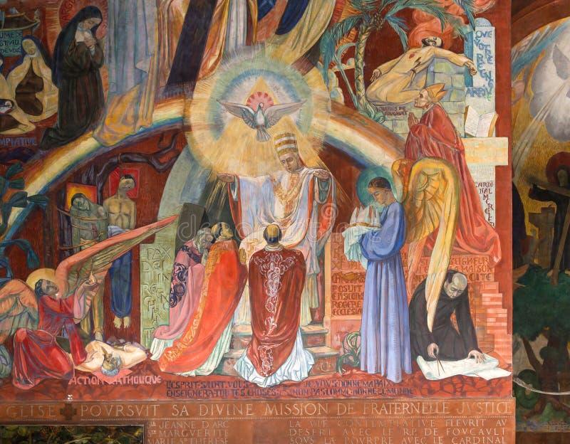 Iglesia de Esprit del santo, París, Francia foto de archivo libre de regalías