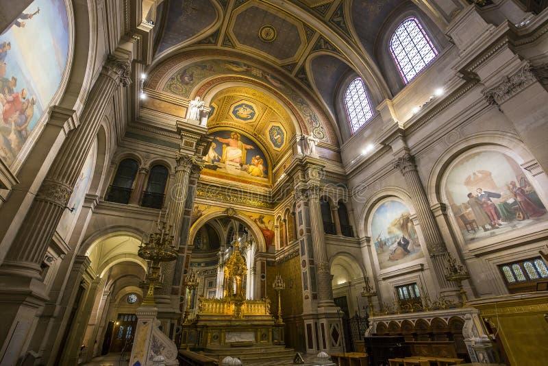 Iglesia de Francois Xavier del santo, París, Francia fotografía de archivo