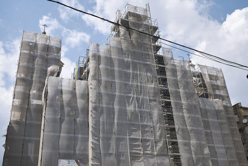 Iglesia de Gerolamini bajo restauración conservadora fotos de archivo libres de regalías