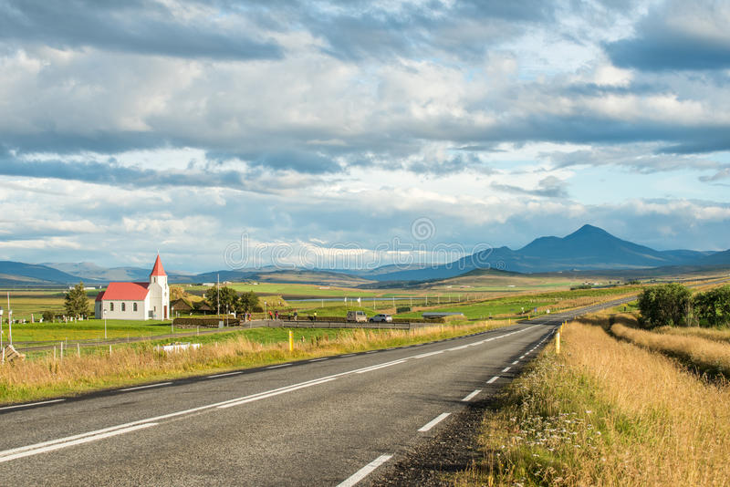 Iglesia de Glaumbaer, Islandia fotografía de archivo