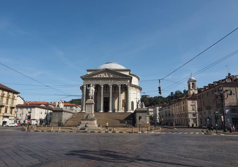 Iglesia de Gran Madre en Turín foto de archivo libre de regalías