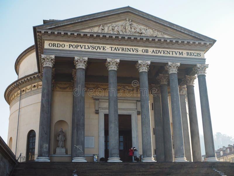 Iglesia de Gran Madre en Turín imagen de archivo libre de regalías