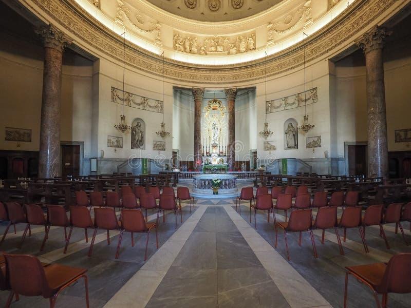 Iglesia de Gran Madre en Turín fotos de archivo