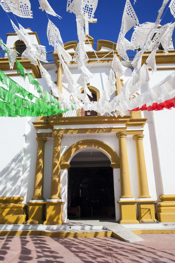 Iglesia De Guadalupe, San Cristobal De La Casas, Chiapas stock photo
