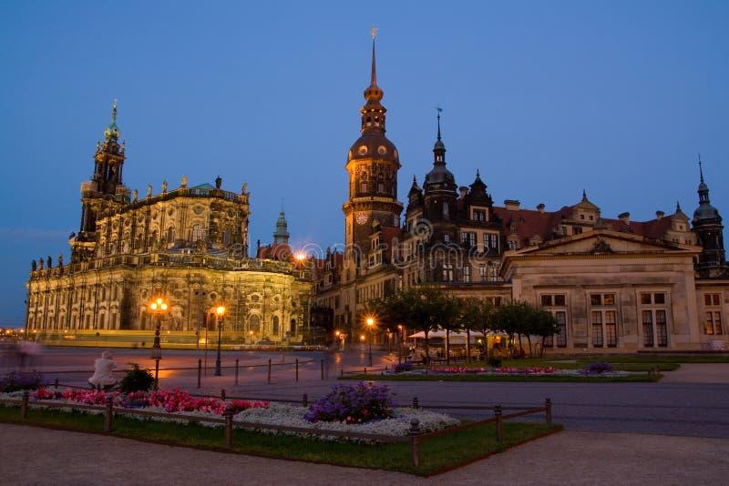 Iglesia de Hofkirche en Dresden fotografía de archivo libre de regalías