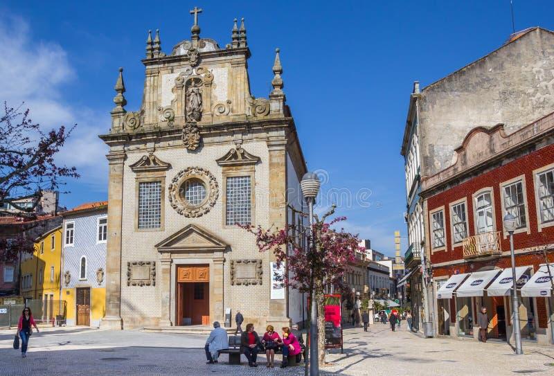 Iglesia de Igreja Dos Terceiros en el centro de Braga imágenes de archivo libres de regalías