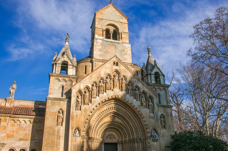 Iglesia de Jaki en el complejo del castillo de Vajdahunyad en Budapest imágenes de archivo libres de regalías