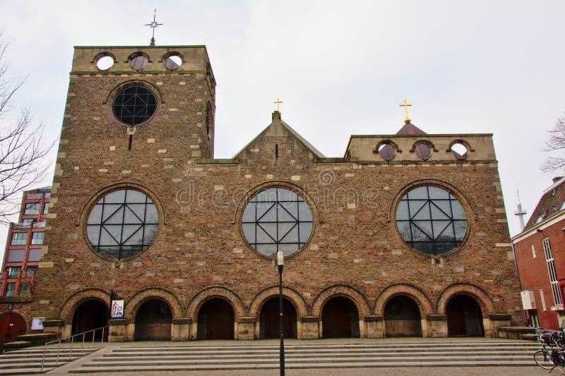 Iglesia de James, hijo de Zebedee, Enschede imagen de archivo libre de regalías
