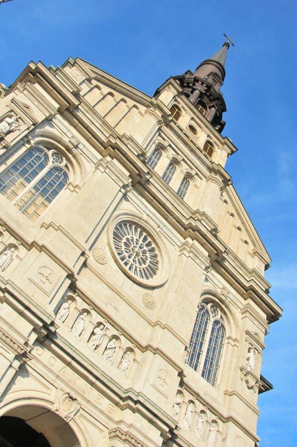 Iglesia de Jean Baptiste del santo - Quebec City foto de archivo