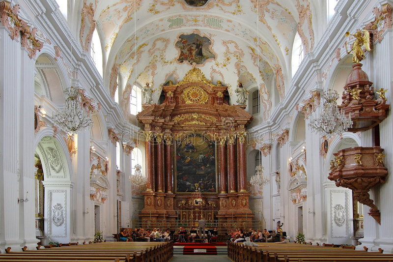 Iglesia de jesuitas   fotos de archivo