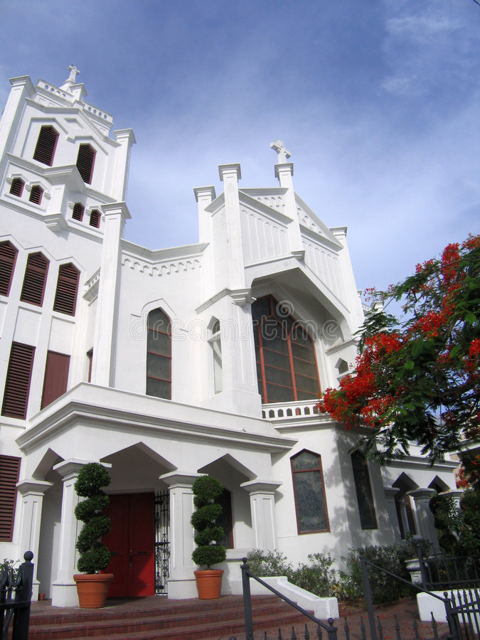 Iglesia de Key West imagenes de archivo
