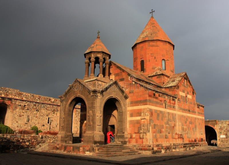 Iglesia de Khor Virap, Armenia fotografía de archivo