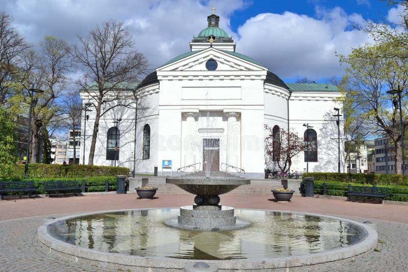 Iglesia de la ciudad en Hameenlinna fotos de archivo libres de regalías