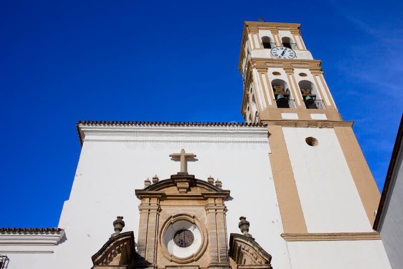 Iglesia de la encarnación en Marbella fotografía de archivo
