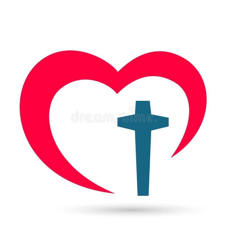 Iglesia de la Familia La gente ama el logotipo el corazón la felicidad el éxito del equipo el éxito wellness el símbolo de la sal libre illustration
