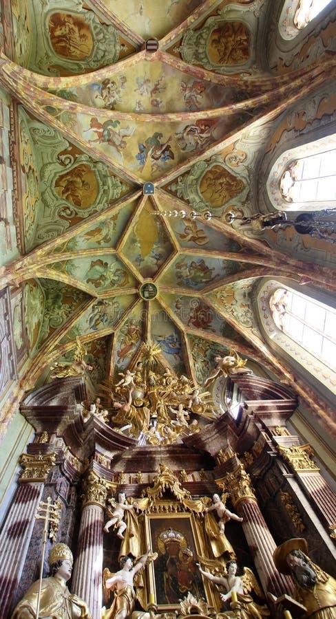 Iglesia de la Inmaculada Concepción de la Virgen María en Lepoglava, Croacia imagen de archivo libre de regalías