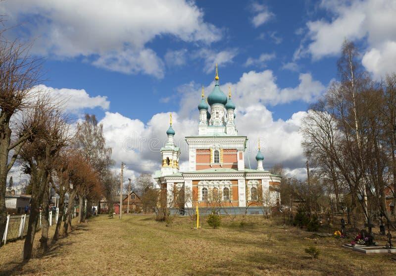 Iglesia de la intercesión de la madre de dios en Marienburg Gatchina Región de Leningrad Rusia fotos de archivo libres de regalías