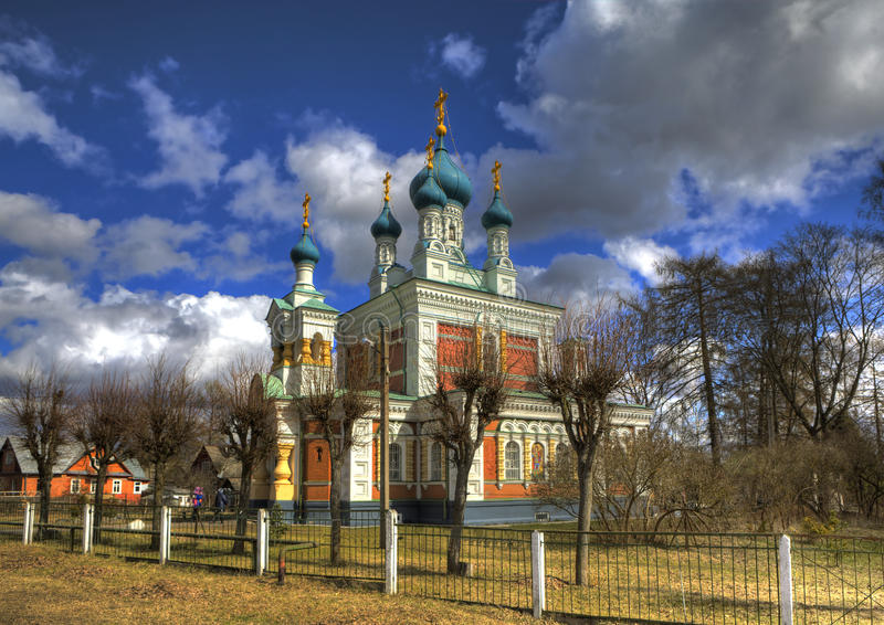 Iglesia de la intercesión de la madre de dios en Marienburg Gatchina Región de Leningrad Rusia fotografía de archivo