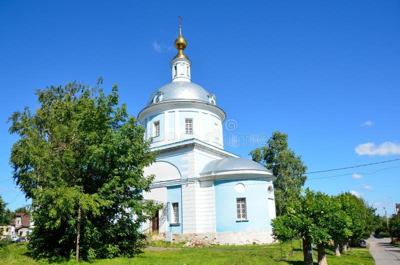 Iglesia de la intercesión de la Virgen María bendecida en Kolomna, un monumento a la guerra patriótica de 1812 imagenes de archivo