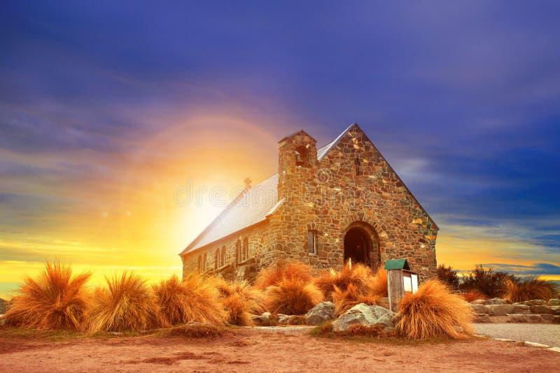 Iglesia de la isla del sur Nueva Zelanda del buen pastor foto de archivo libre de regalías