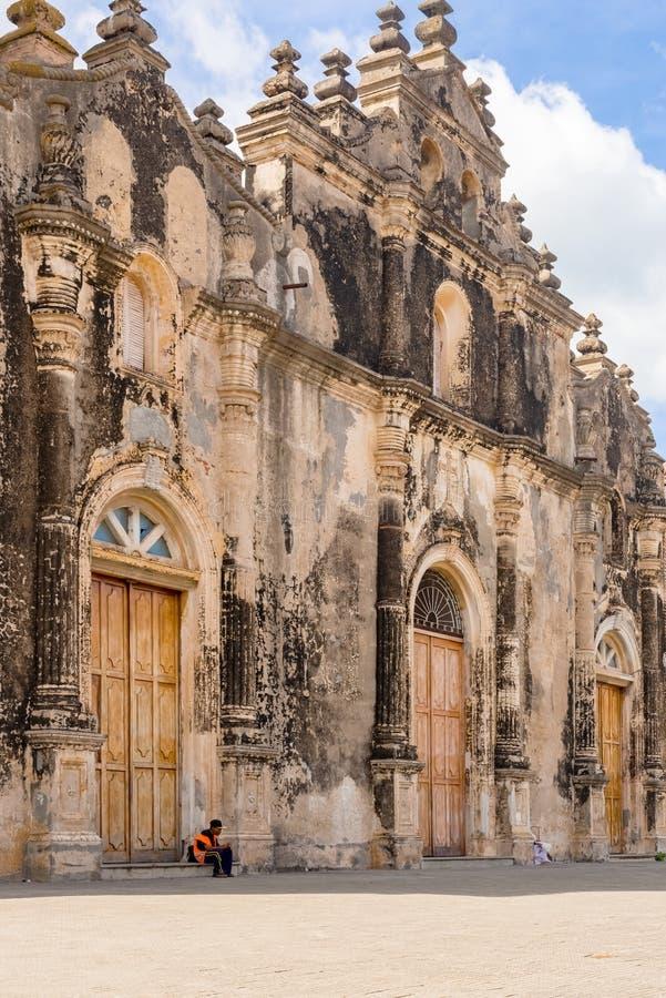 Iglesia de la Merced à Grenade, Nicaragua images stock