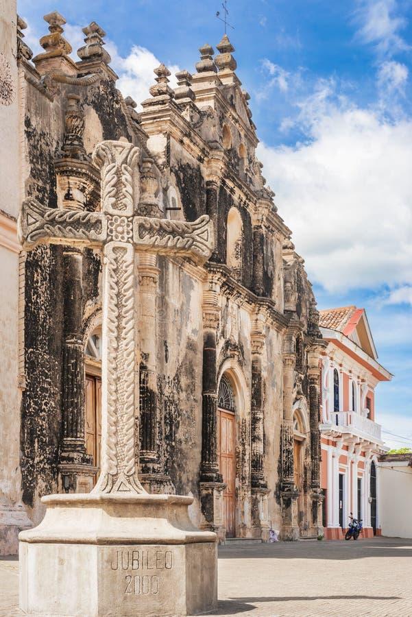 Iglesia de la Merced em Granada, Nicarágua foto de stock