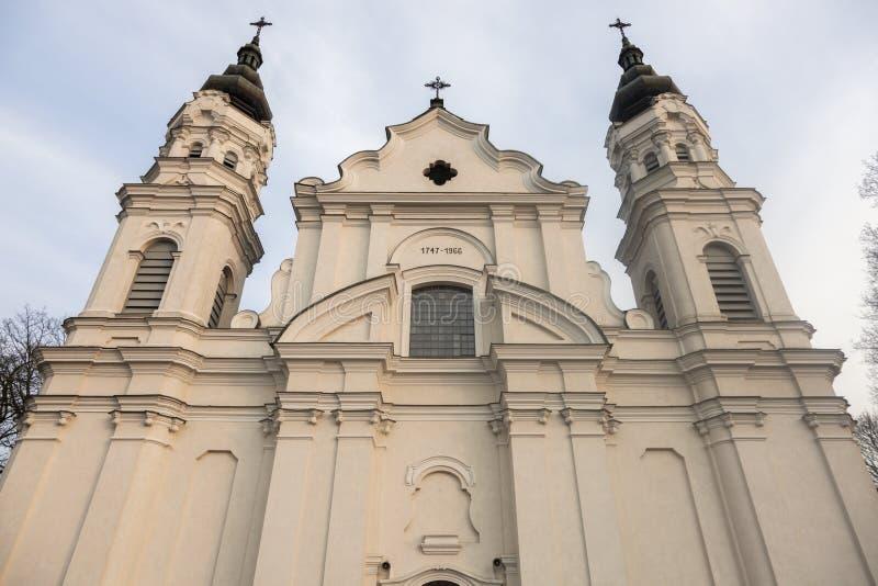 Iglesia de la natividad de la Virgen María bendecida en Biala Podla imágenes de archivo libres de regalías
