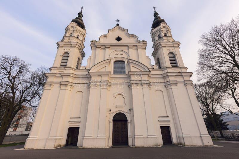 Iglesia de la natividad de la Virgen María bendecida en Biala Podla imagen de archivo libre de regalías
