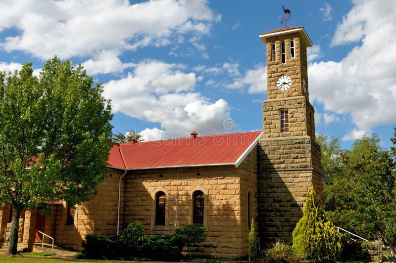 Iglesia de la piedra arenisca, Clarens, Suráfrica fotografía de archivo libre de regalías