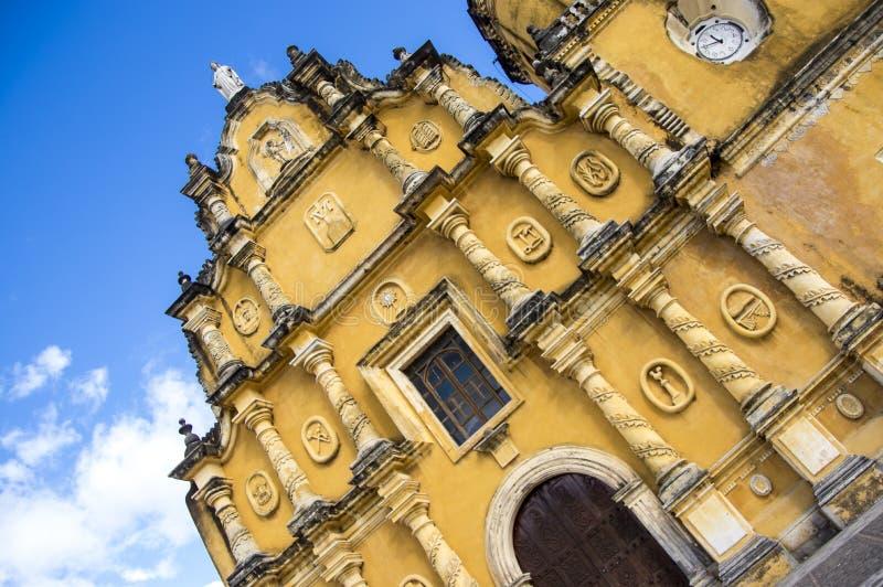Iglesia DE La Recoleccion in Leon, Nicaragua stock foto's