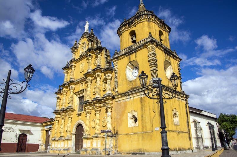 Iglesia DE La Recoleccion in Leon, Nicaragua royalty-vrije stock afbeeldingen