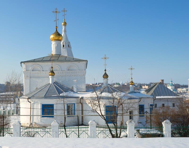 Iglesia de la resurrección, Cheboksari, Rusia, invierno. fotografía de archivo