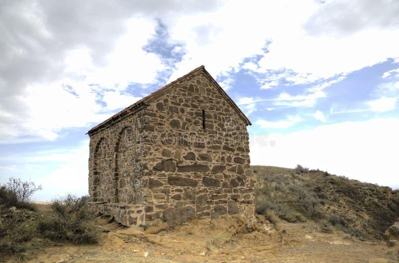 Iglesia de la resurrección Monasterio Udabno imagen de archivo libre de regalías