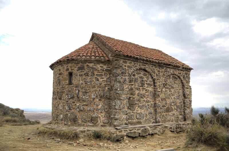 Iglesia de la resurrección Monasterio Udabno imagen de archivo