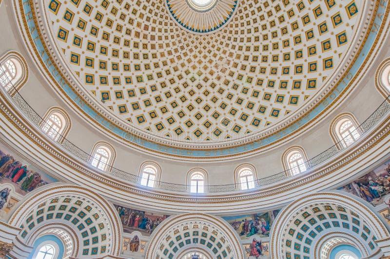 Iglesia de la Rotonda de Mosta, Malta imagen de archivo libre de regalías