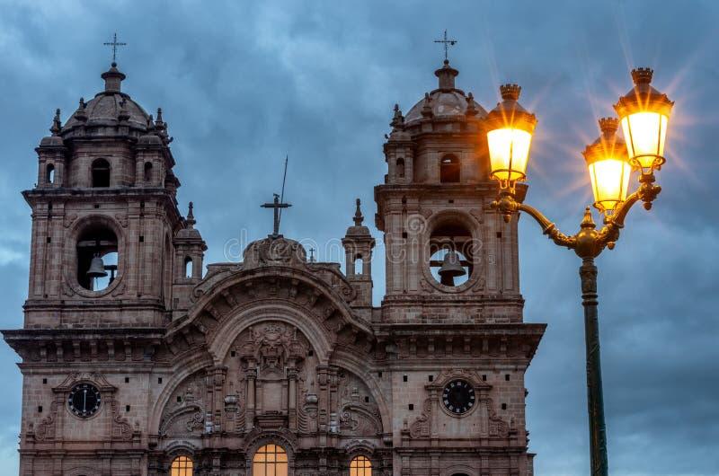 Iglesia de la sociedad de Jesus Iglesia de la Compania, Cusco, Perú fotografía de archivo