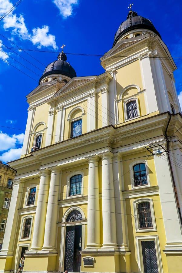 Iglesia 01 de la transfiguración de Lviv foto de archivo libre de regalías