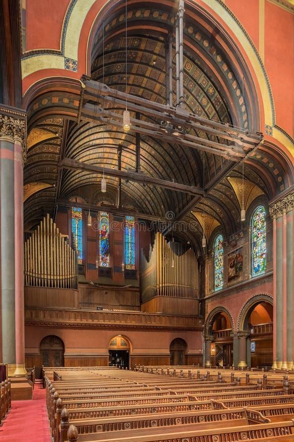 Iglesia de la trinidad, cuadrado de Copley, Boston fotos de archivo libres de regalías