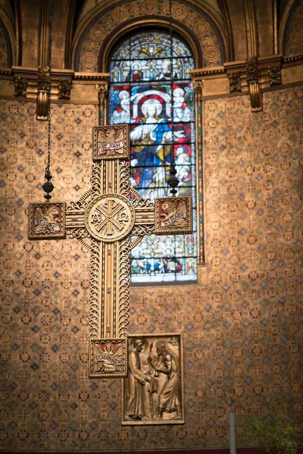 Iglesia de la trinidad de Boston fotos de archivo libres de regalías
