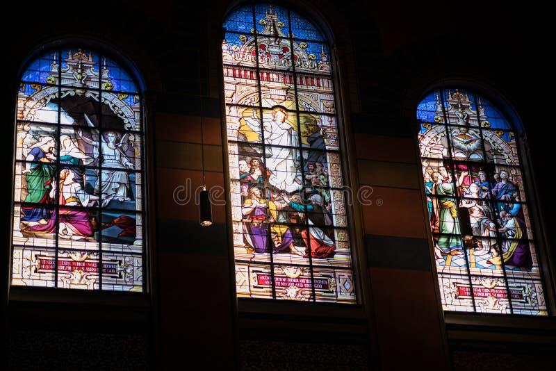 Iglesia de la trinidad de Boston fotografía de archivo
